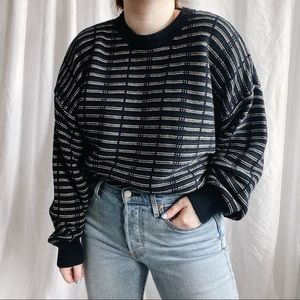 vintage striped knit pullover sweater
